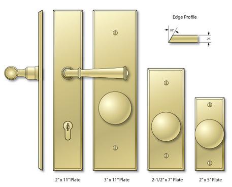 Bevel Edge Escutcheons  sc 1 st  Solid Brass Decorative Door and Cabinet Hardware - Classic Brass & Solid Brass Decorative Door and Cabinet Hardware - Classic Brass